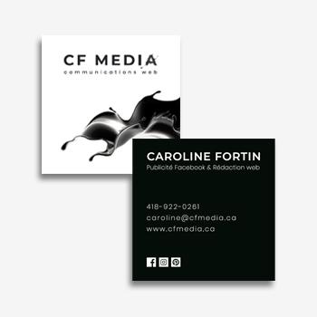 Cartes d'affaires - CF MÉDIA